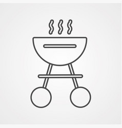 barbecue icon sign symbol vector image