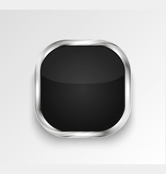 black glossy button or banner vector image