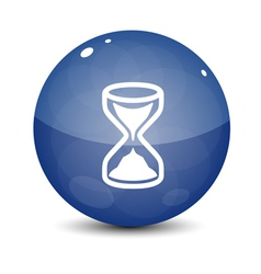 Blue Sand Clock Icon vector image