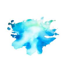 Blue watercolor splash stain texture background vector