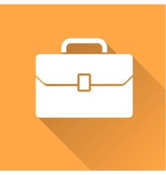 Business case icon with long shadow vector