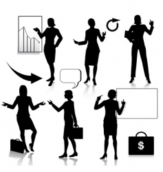 business women silhouettes set vector image