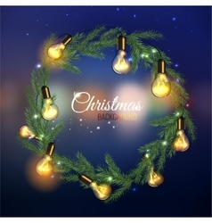Christmas tree Garland vector