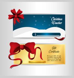 Christmas voucher design vector