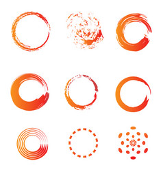 circle brush water color icon template vector image