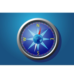 compass on a blue background vector image
