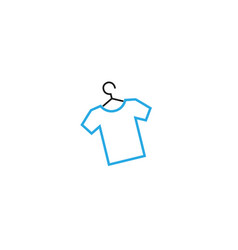 creative blue tee shirt hanger logo design symbol vector image