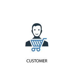 customer concept 2 colored icon simple blue vector image