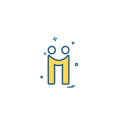 diigo icon design vector image