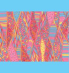 doodle pattern background entangle art trippy vector image