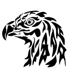Eagle for coloring or tattoo vector