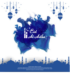Eid al adha mubarak islamic greeting card design vector