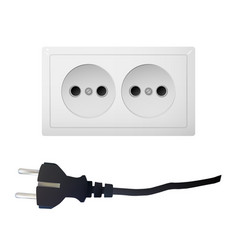 electrical adapter with two outlet vector image