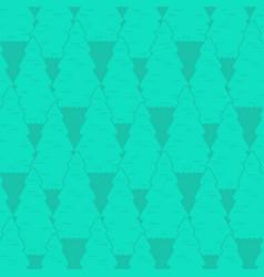 Fir-tree seamless pattern forest ornament vector