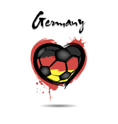 Flag of germany in the form of a heart vector