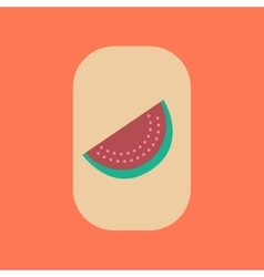 Flat icon on stylish background poker slice vector