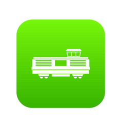 freight train icon digital green vector image