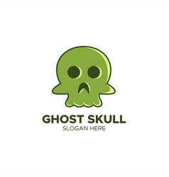 ghost skull logo vector image