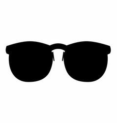 glasses dark silhouette vector image