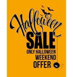 Halloween sale Happy holiday vector
