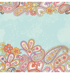 Hand drawn pattern with paisley vector