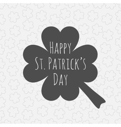 Happy St Patricks Day Clover Background vector image