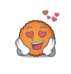in love cookies mascot cartoon style vector image