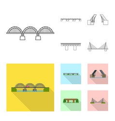 isolated object of connection and design logo set vector image