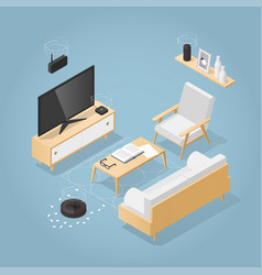 Isometric smart home vector