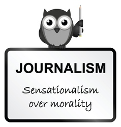 Journalism vector image