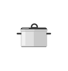 kitchen pan icon isolated on white flat vector image