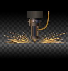 Laser machine for metal vector
