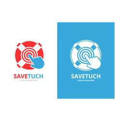 Lifebuoy and click logo combination unique vector