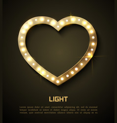Light in heart retro style banner hollywood film vector