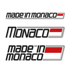 Made in monaco vector