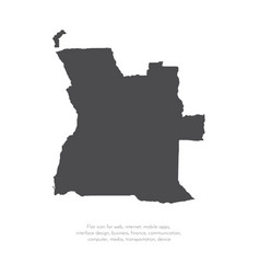map angola isolated black on vector image