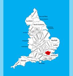 Map greater london in united kingdom region vector