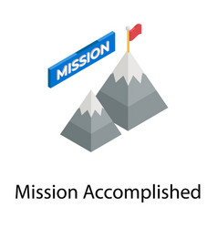 Mission accomplished vector