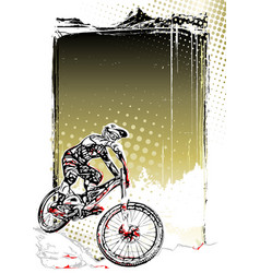 Mountain bike poster vector
