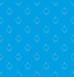 muffin pattern seamless blue vector image