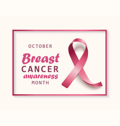 october - breast cancer awareness month banner vector image