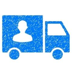 Passenger Transport Van Grainy Texture Icon vector