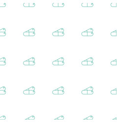 Pill icon pattern seamless white background vector