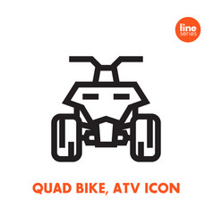 quad bike icon all terrain vehicle atv vector image