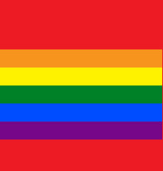 Rainbow lgbt pride flag gay flag vector
