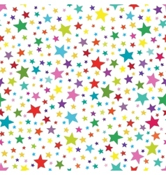 Seamless simple pattern with colorful stars vector image