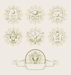 set golf logo labels and emblems vector image