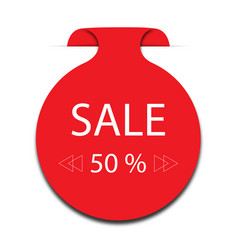 sticker 50 off sale promotion flat badge graphic vector image