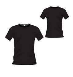 T-shirt uniform front and back view t-shirt polo vector