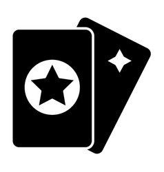Tarot cards solid icon magic vector
